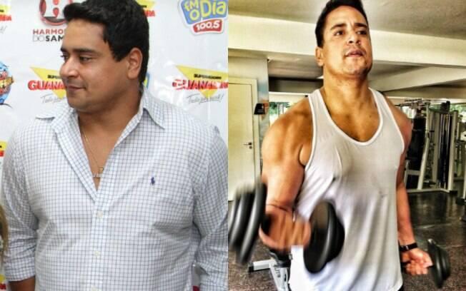 Xanddy antes e depois da dieta que o fez perder 10 quilos em um mês