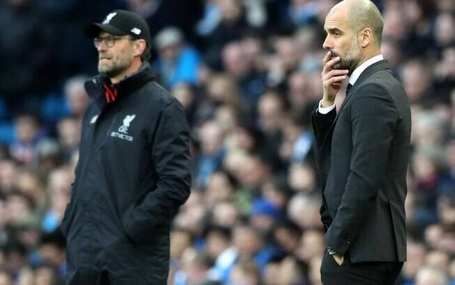 Klopp e Guardiola disputam o título
