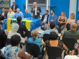 Reunião.No último dia 12, a Câmara de Dirigentes Lojistas de Contagem (CDL) foi palco para a inauguração do Instituto Teotônio Vilela e para a posse da nova Mesa Diretora