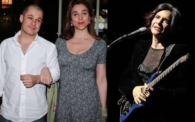 O casal Da Lua e Marisa Orth estava na plateia de Marina Lima