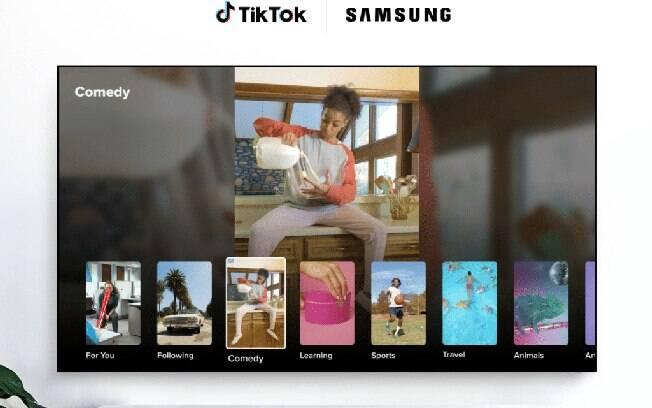 TikTok firma parceria com Samsung e lana app para Smart TVs da marca