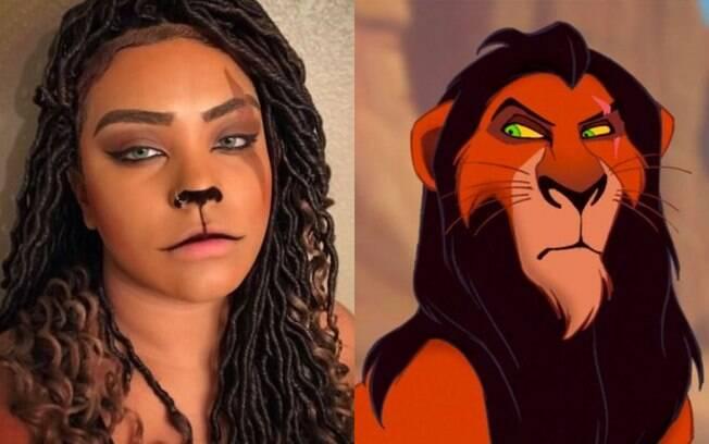 Maquiagem de Scar, de Rei Leão