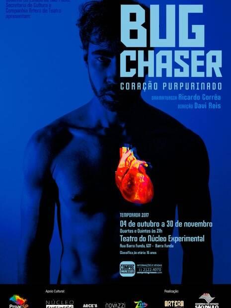Cartaz da peça Bug Chaser - Coração Purpurinado