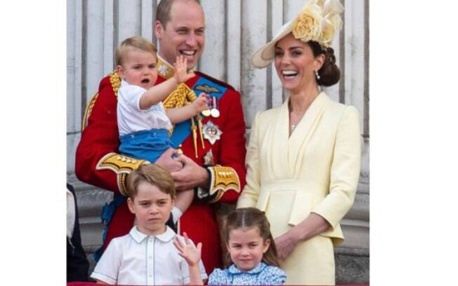 Príncipe William, Kate Middleton, George, Charlotte e Louis