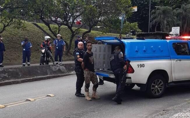 Homem é preso pela PM