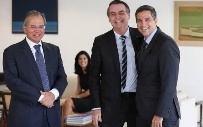 Paulo Guedes, Jair Bolsonaro e Roberto Campos Neto