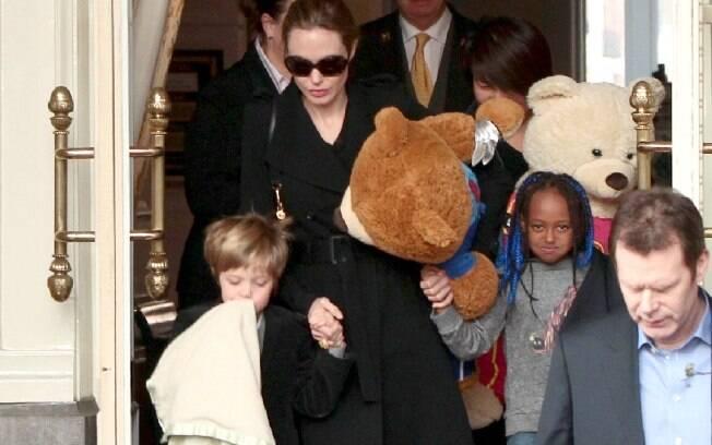 Angelina Jolie ficou em Amsterdã por 72 horas