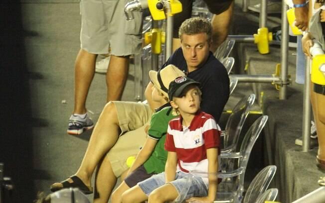 Luciano Huck na final do Rio Open
