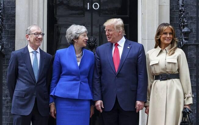 Presidente norte-americano se encontrou com a primeira ministra britânica nesta terça