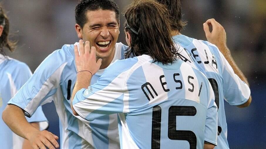 Riquelme e Messi