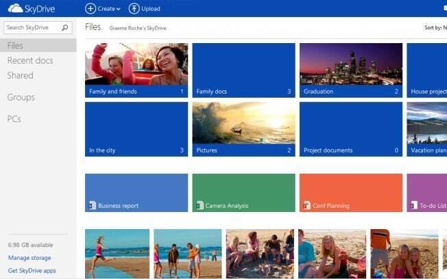 Novo SkyDrive ganhou design mais parecido com o Outlook.com e mais funcionalidades