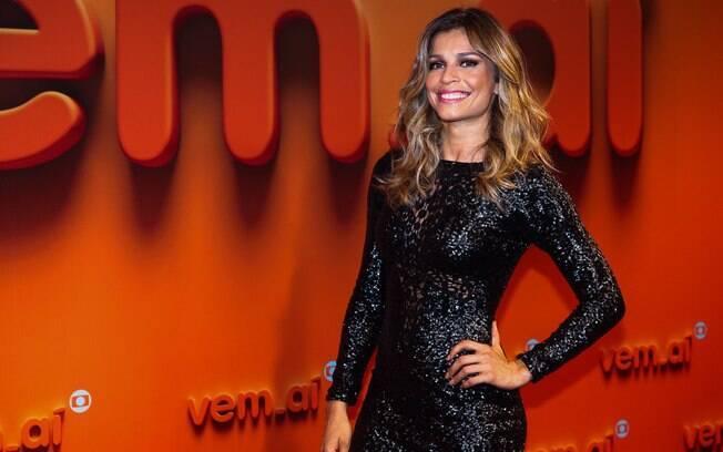 Grazi Massafera na festa da Globo