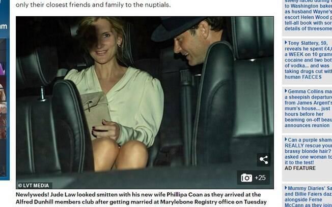 Jude Law se casa com Phillipa Coan