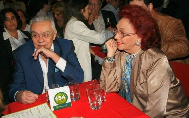Chico Anysio com a irmã Lupe Gigliotti, falecida em dezembro de 2011