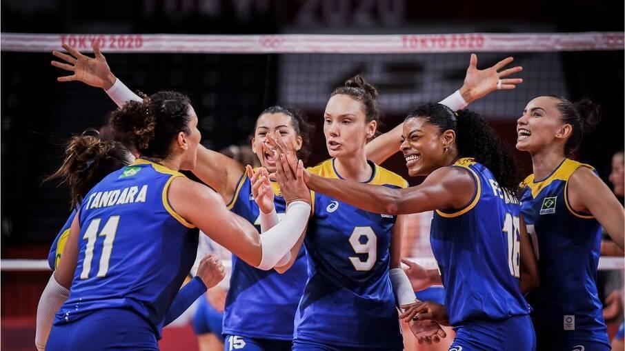 Brasil venceu a Sérvia no vôlei feminino