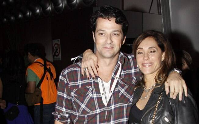 Marcelo Serrado e Christiane Torloni se encontram no Rock in Rio