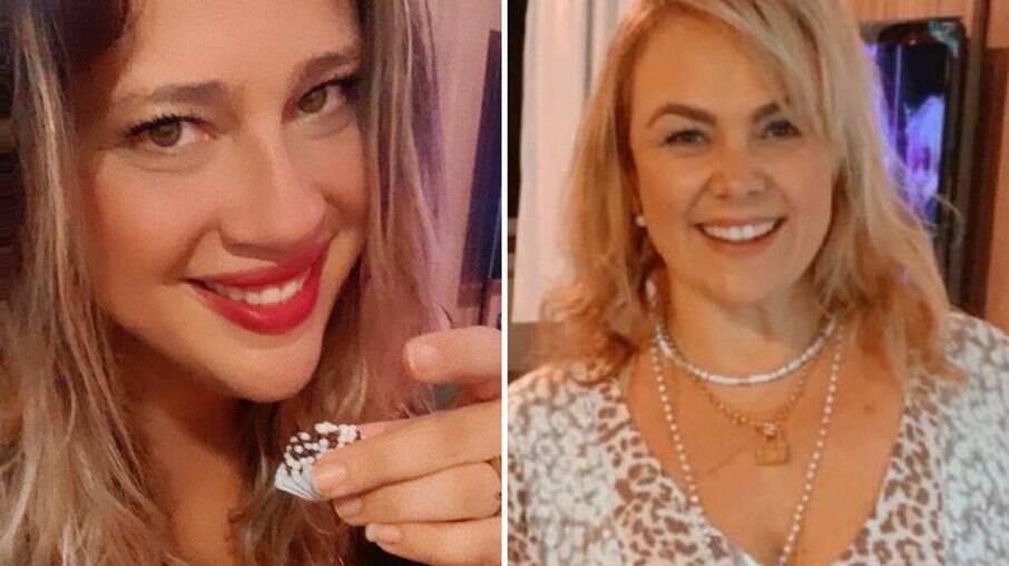 Taty Guimarães e a ex-paquita Ana Paula Almeida, a Pituxita