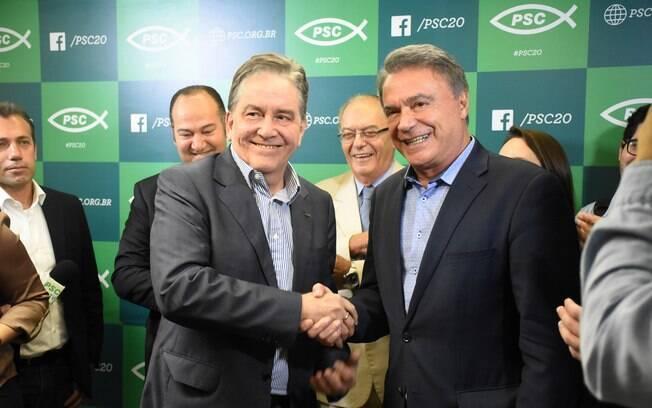 Candidatos à Presidência: partido de Alvaro Dias também confirmou o nome de Paulo Rabello de Castro (PSC) como vice