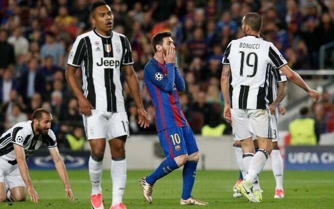 Messi não conseguiu passar pela defesa da Juventus durante os 180 minutos