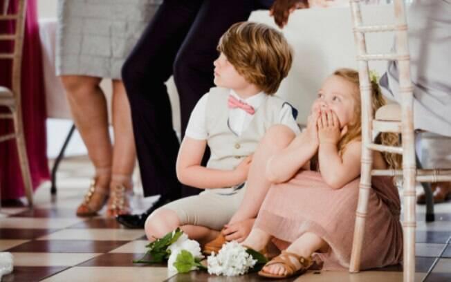 As crianças em casamentos merecem atenção especial, principalmente porque têm energia de sobra e precisam se entreter