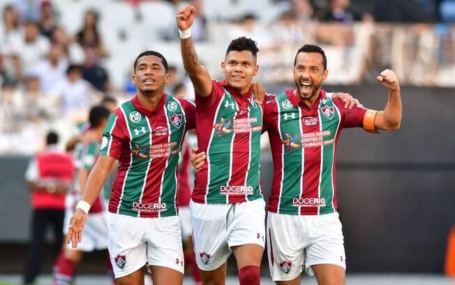Jovem Evanílson marcou peo Fluminense contra o Corinthians