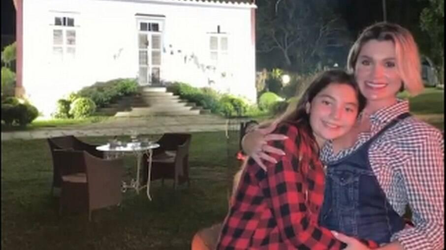 Flávia Alessandra e a filha Olivia