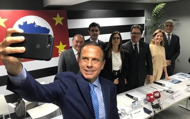Governador eleito de São Paulo, João Doria (PSDB), anuncio novos futuros secretários, entre eles o quinto ministro do governo Michel Temer a integrar a equipe