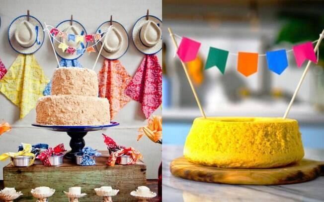 Não precisa ter medo de escolher um bolo simples para uma festa cujo o tema é Festa Junina, já que ela é assim mesmo