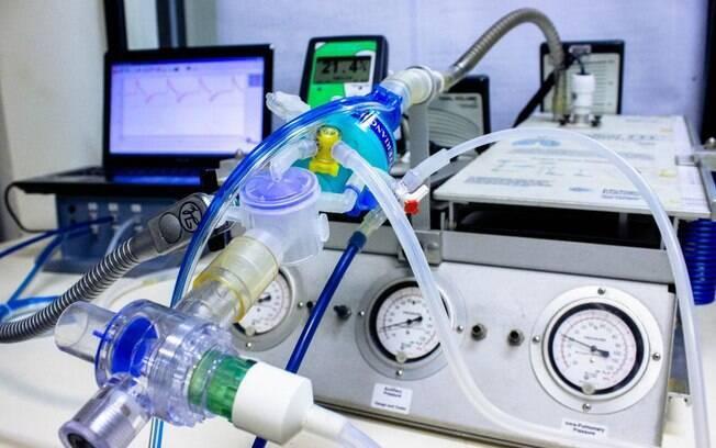 O equipamento é utilizado no tratamento de pacientes da Covid-19, em quadros mais graves que precisam de apoio para garantir a respiração