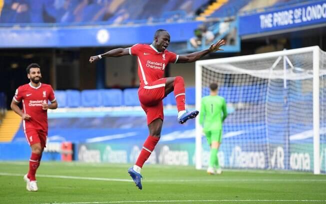Mané marcou os gols da vitória do Liverpool em cima do Chelsea