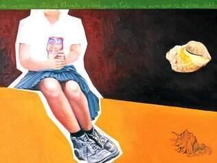 Exposição reúne pinturas em pequenas dimensões, em torno de 40x40 cm