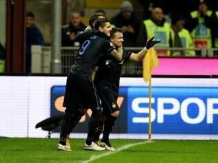 Shaqiri anotou seu primeiro gol com a camisa 'nerazzurra' aos 26 minutos do segundo tempo