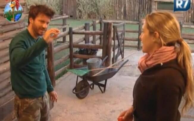 Joana Machado e Marlon conversam sobre a próxima Roça