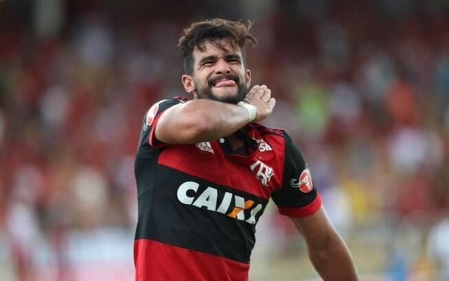 Henrique Dourado marcou seu primeiro gol com a camisa do Flamengo