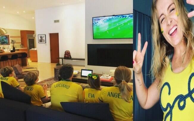 Angélica e Luciano Huck estão empolgados com a Copa do Mundo