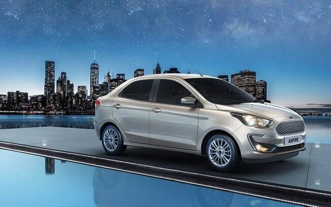 Ford Aspire: pode parecer o Ka Sedan vendido no Brasil, mas tem a distância entre-eixos mais  curta entre as diferenças
