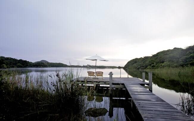 Lagoa Salgada, localizada atrás da pousada Quinta do Bucanero