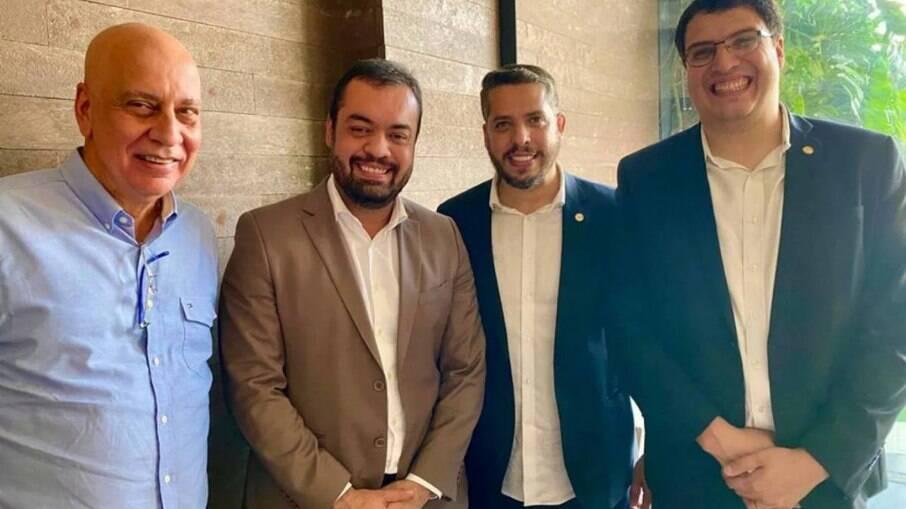 Rodrigo e Rogério Amorim almoçaram com Cláudio Castro e Nilton Caldeira, ambos do PL