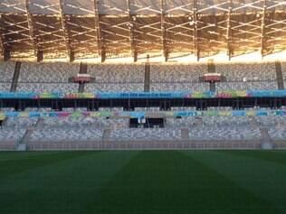 Decoração da parte interna do estádio já está quase pronta