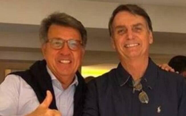 Presidende Jair Bolsonaro e o ex-aliado Paulo Marinho (PSDB)