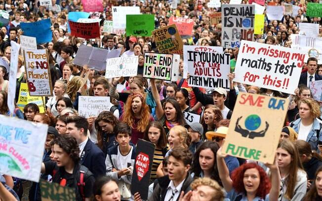 Estudantes se reuniram em mais de 110 países para protestar contra mudanças climáticas