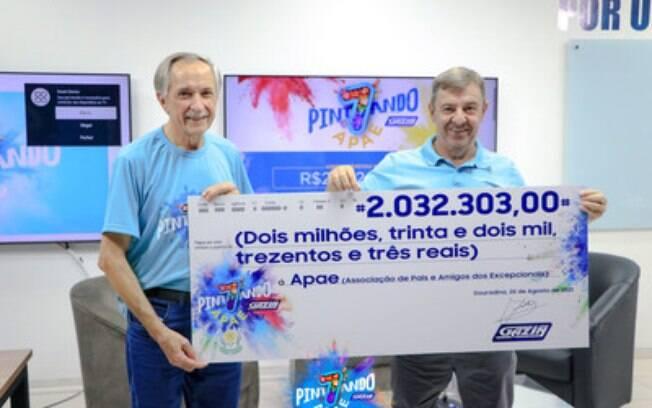 Gazin e Apae fecham com chave de ouro a Campanha Pintando o 7, que arrecadou mais de R$ 2 milhões em doações