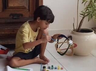 Os pais de Lucas evitam cobranças e estimulam os talentos naturais do filho