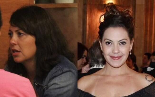Fabíula Nascimento também abre mão dos truques de maquiagem na hora de sair para jantar com amigos