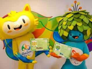 Símbolos do Rio 2016 receberam identidades com seus novos nomes