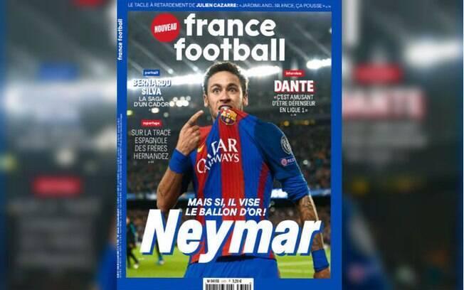 Neymar ganhou capa do mês de abril da revista