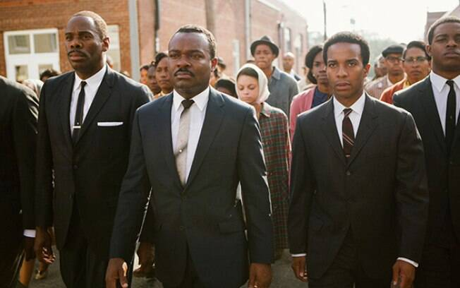 David Oyelowo (centro), intérprete de Martin Luther King Jr. em