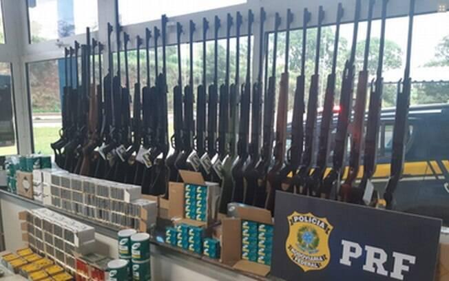 Esta foi a maior apreensão de armas feita de pela Polícia Rodoviária Federal em Minas Gerais