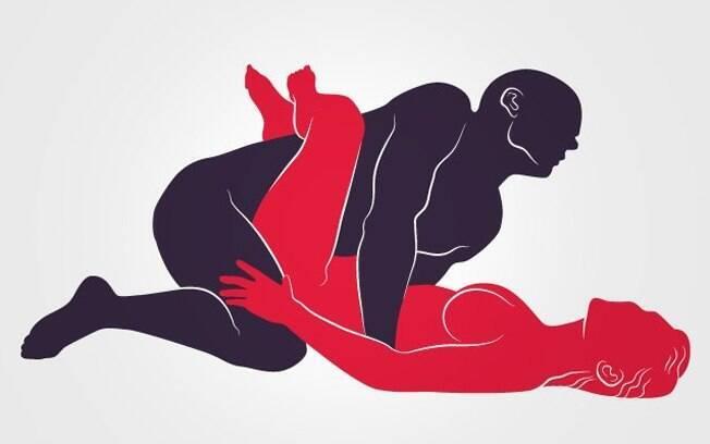 12 posições sexuais para testar: aqui a mulher entrelaça as pernas nele e ambos aproveitam a relação