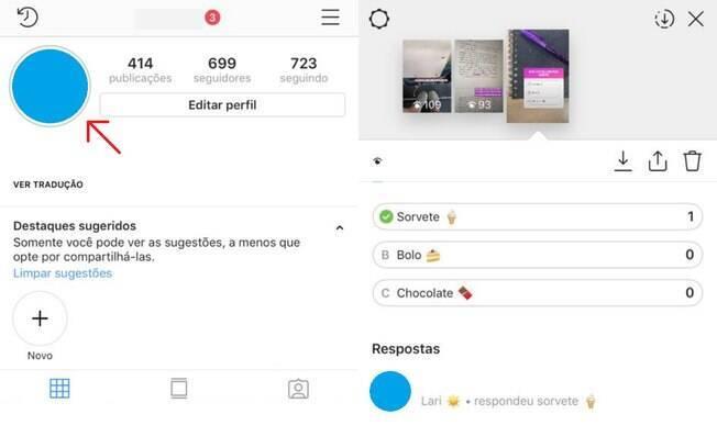 Para ver as respostas dos seus amigos e acompanhar quem acertou o seu teste do Instagram, vá até a sua história no perfil